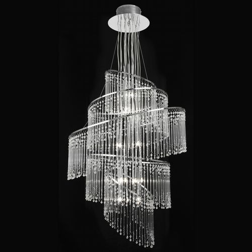 24Light Chrome Chandelier With Glass Drops (Double Insulated) BXCAMILLE-24CH-17 (Double Insulated)